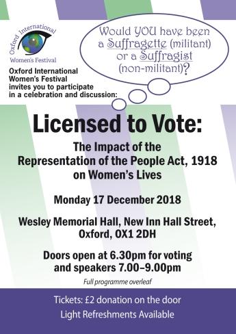 A5 flyer Licensed to Vote side1